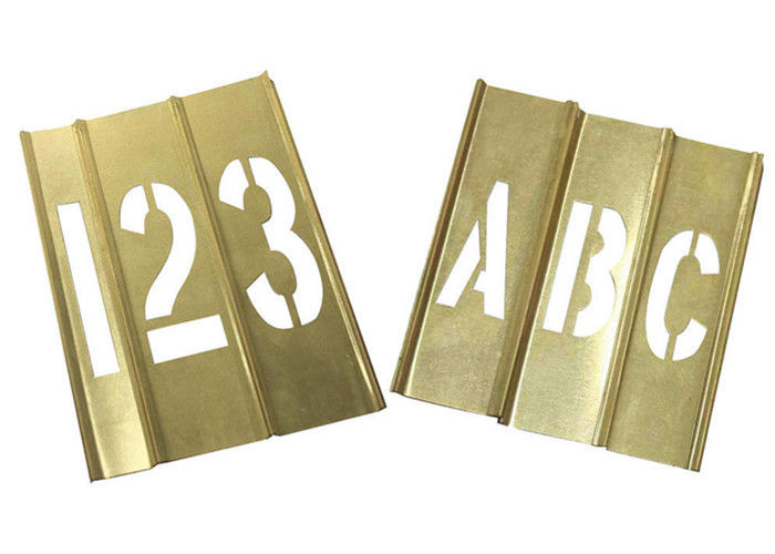 Spray Painting Metal Letter Stencils , Rectangle Shape Brass Letter Stencils