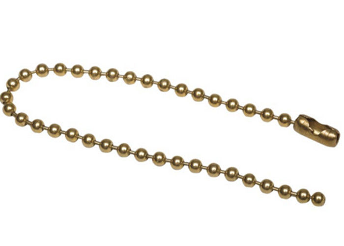 Ball Chain Necklaces Beaded Split Key Rings 100 PK Steel Number 3 Brass Plated